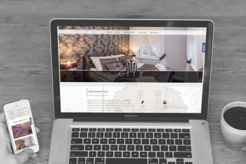 Strona na wordpress dla ApartamentyCity Białystok