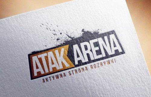 Projekt loga AtakArena