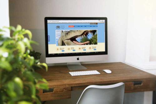 Strona internetowa dla Jurajskiego Parku Dinozaurów