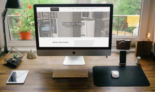 Strona internetowa dla firmy Unicell Polska właściciela marki Primacol Decorative