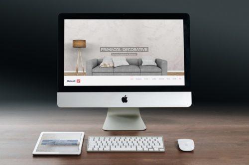 Realizacja oficjalnej strony www dla Unicell Poland - Producent farb Wasilków