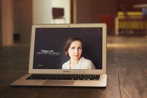 Projekt strony www dla aktorki Małgorzata Neczyperowicz